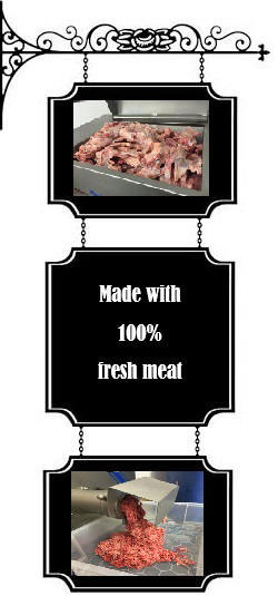 Raw dog food made with 100% fresh meat
